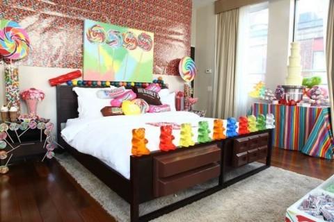 Habitaciones decoradas con dulces y caramelos 1