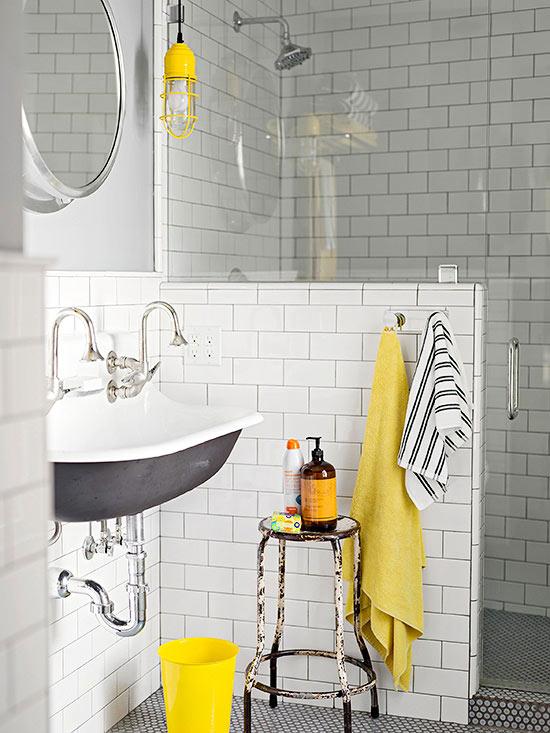 Paletas de color para cuartos de ba o - Cuartos de bano estilo vintage ...