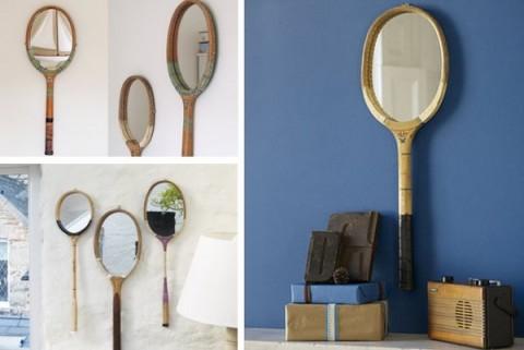 Decorar con raquetas de tenis 2