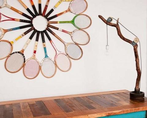 Decorar con raquetas de tenis 4