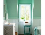 imagen La belleza del color menta en el baño