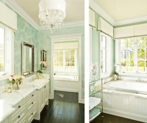 Color verde menta en el baño 3