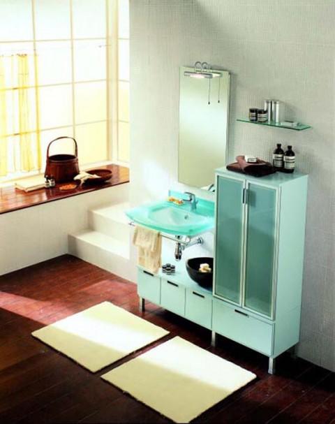 Color verde menta en el baño 5