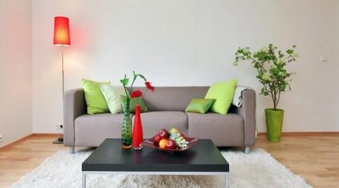 Cómo llenar de color un sofá gris 2