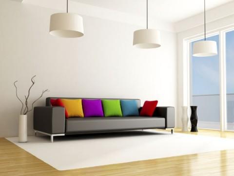 Cómo llenar de color un sofá gris 3
