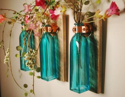 Decorar con flores y frascos 1