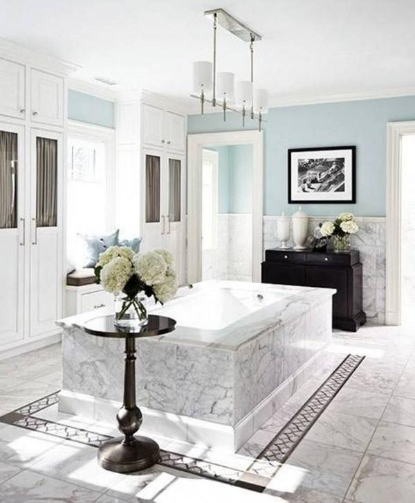 El m rmol en el cuarto de ba o - Lavabos de marmol para bano ...