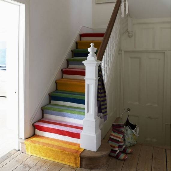 23 ideas diy para decorar las escaleras - Como decorar una escalera interior ...