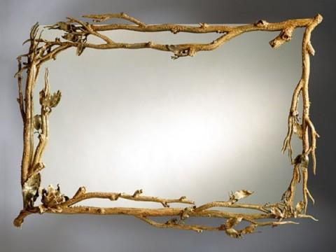 Decoraci n de marcos de espejos imagui for Ideas para enmarcar espejos