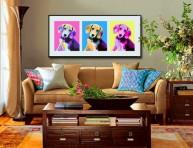 imagen Ideas para decorar la pared sobre el sofá