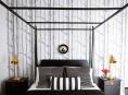 imagen Ideas para dormitorios en blanco y negro