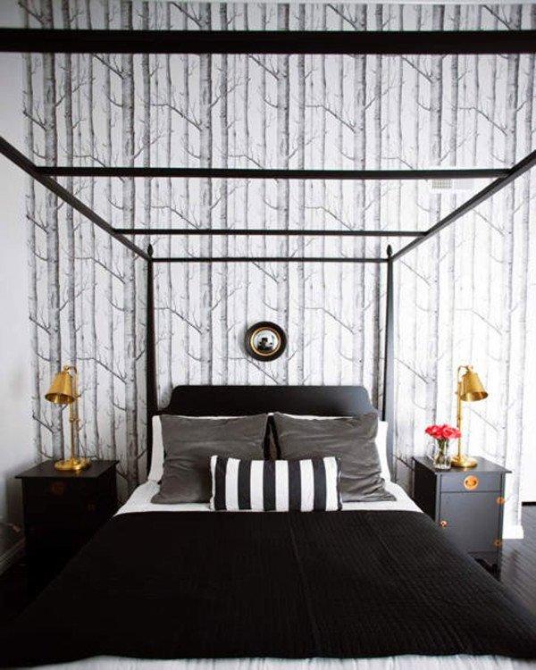 Ideas para dormitorios en blanco y negro for Idea deco en blanco y negro