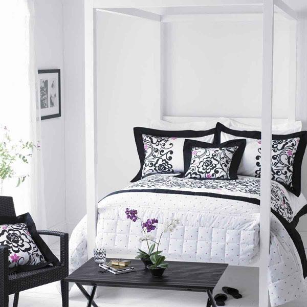 ideas-para-dormitorios-blanco-y-negro-05 | Guía para Decorar