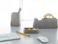 imagen Set de accesorios de oficina de concreto