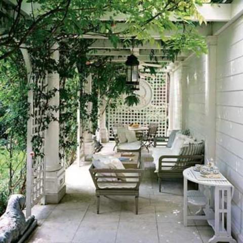 Decoraci n de p rgolas y cenadores de exterior for Pisos para galerias exteriores