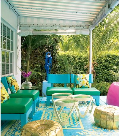 Decoraci n de p rgolas y cenadores de exterior for Small lanai decorating ideas