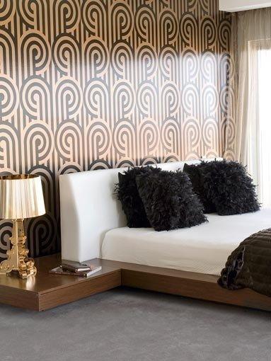 Ideas de dise os retro para la pared del dormitorio for Disenos de paredes para dormitorios