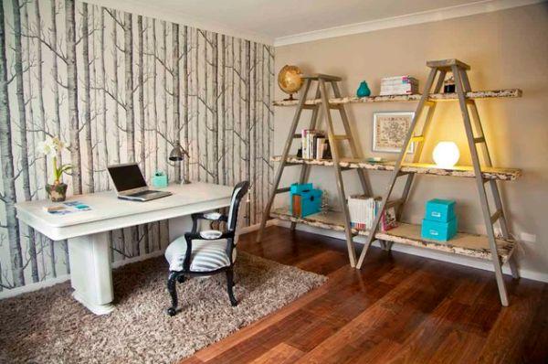 Stylish Home Office Accessories: 15 Ideas Para Utilizar Escaleras Como Estanterías