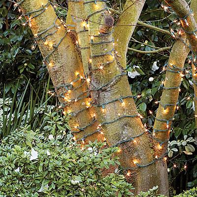 Ideas para iluminar los exteriores de forma diferente for Como decorar un arbol de jardin