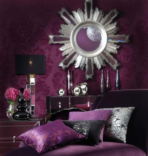 Púrpura y negro para la habitación 3