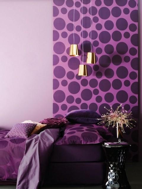 Púrpura y negro para la habitación 4