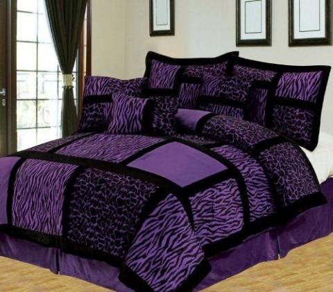 Púrpura y negro para la habitación 5