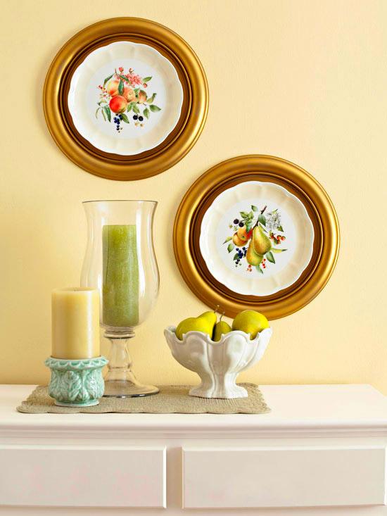 Soluciones vintage para decorar paredes - Platos decorativos pared ...