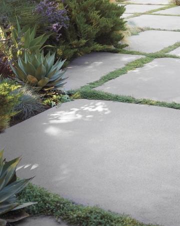 Tipos de pisos para tu jard n - Losas de hormigon para jardines ...