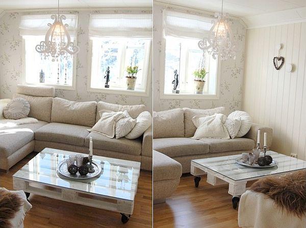 21 ideas para usar palets en la decoraci n for Sofas comodos y bonitos