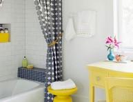 imagen El amarillo puede decorar tu baño