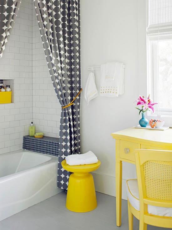 Baños Modernos Amarillos: amarillo se asoma para rediseñar atmósferas, vestirlas con una nueva