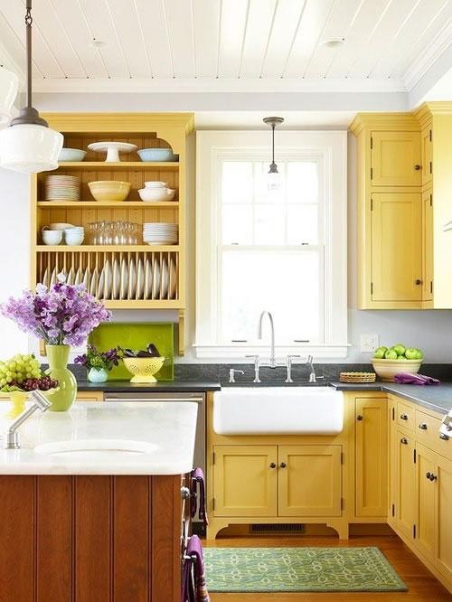 Cocinas en amarillo 1