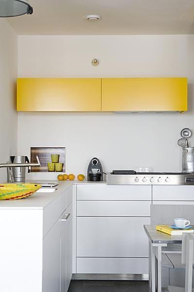 Llena de vida la cocina con el color amarillo - Cocinas en dos colores ...