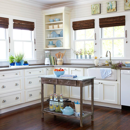 Small Country Kitchen With Island: Acogedoras Cocinas De Estilo Cottage