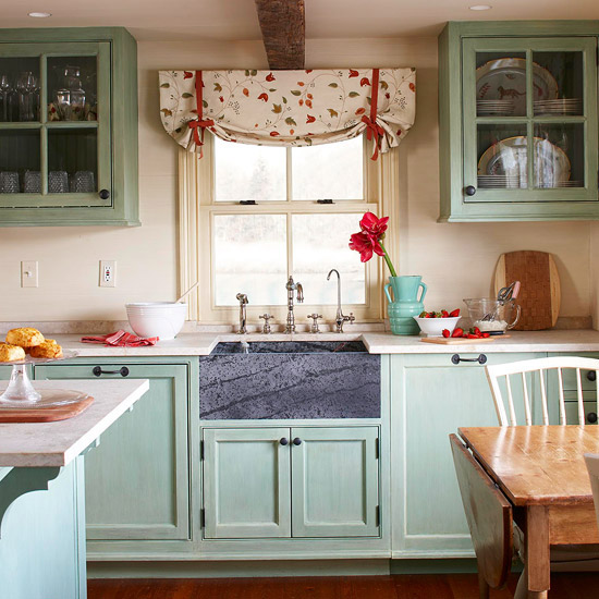 Acogedoras cocinas de estilo cottage for Estilos de cocinas