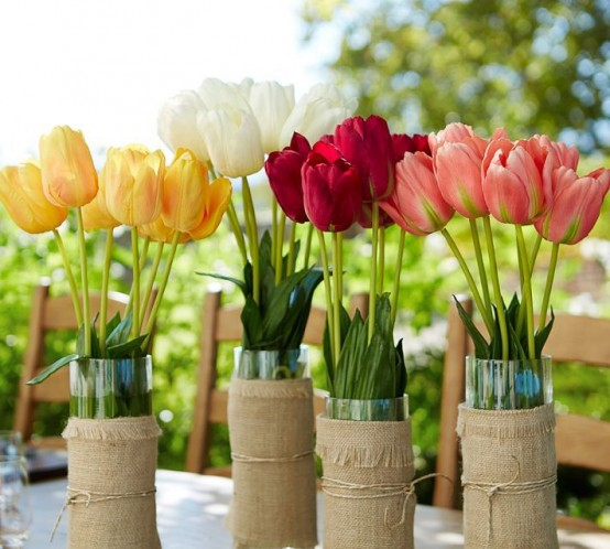 Decorar con tulipanes 16