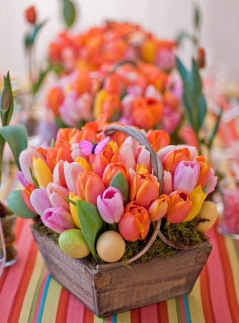 Decorar con tulipanes 18