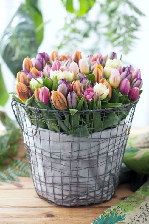 Decorar con tulipanes 20