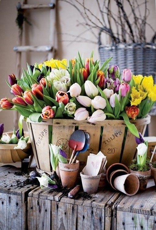 Decorar con tulipanes 21