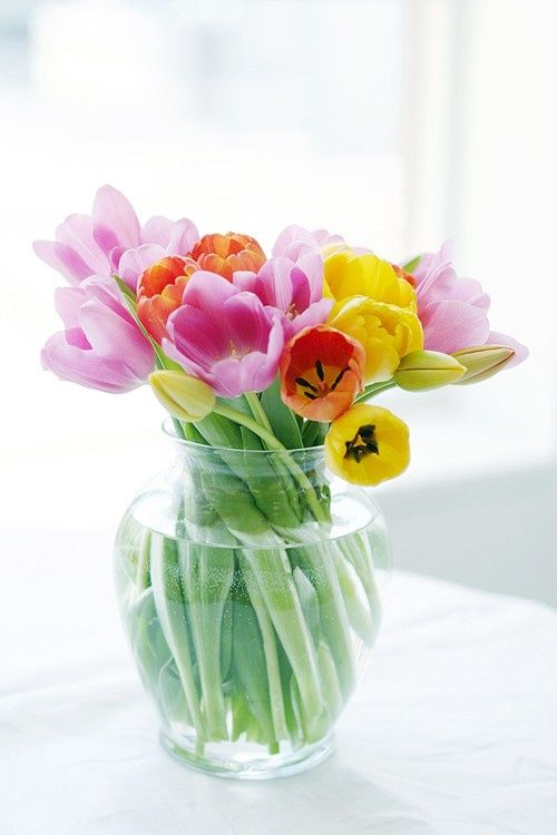 Decorar con tulipanes 23