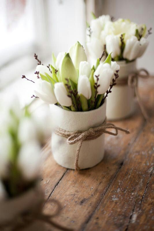 Decorar con tulipanes 24