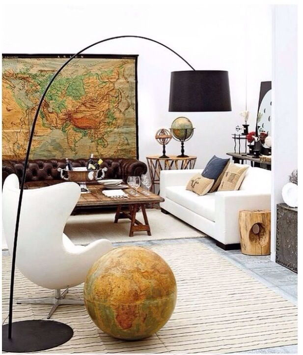 Decoración con mapas 1