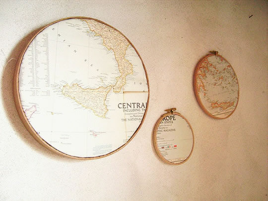 Decoración con mapas 21
