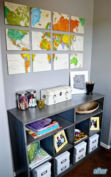 Decoración con mapas 7