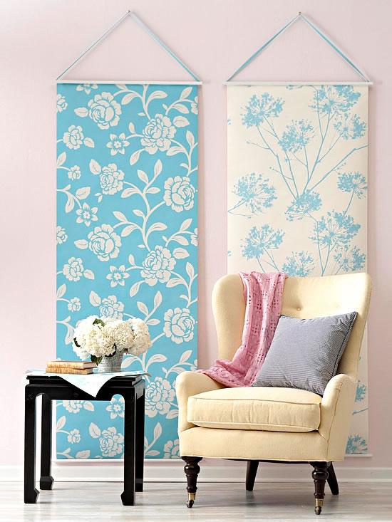 18 ideas para decorar con papel para empapelar for Papel pintado oriental