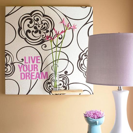 18 ideas para decorar con papel para empapelar - Papel de empapelar ...