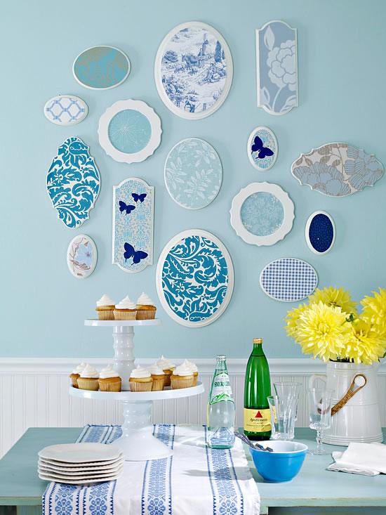 18 ideas para decorar con papel para empapelar for Decorar pared con papel