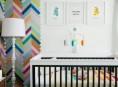 imagen Detalles retro y modernos en este dormitorio para bebé