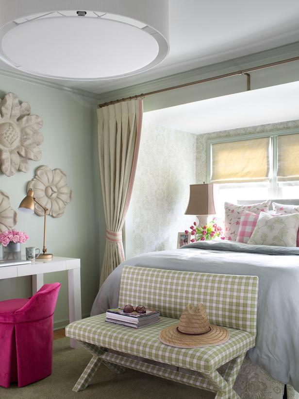 detalles de una habitaci n en estilo cottage. Black Bedroom Furniture Sets. Home Design Ideas