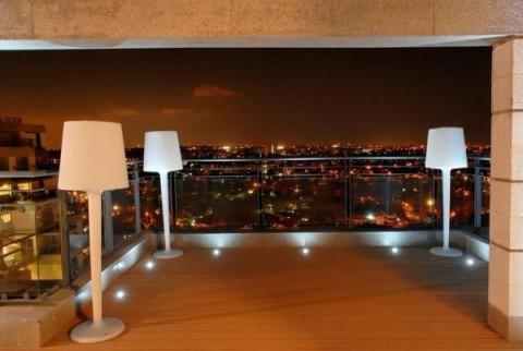Outdoor patio floor lamps - Iluminaci 243 N Moderna Para Terrazas Art 237 Culo Publicado El 21 04 2014